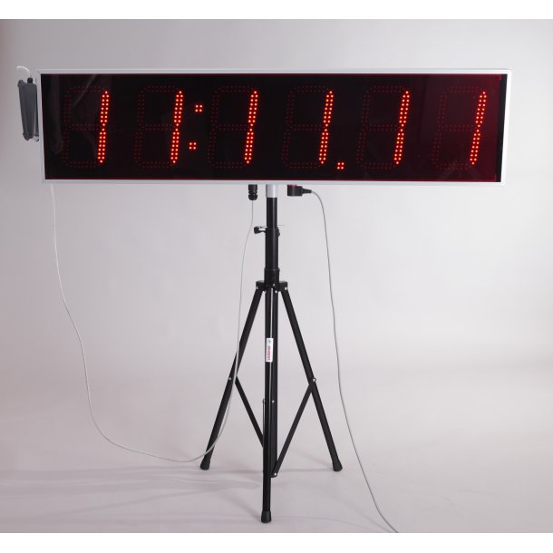 LED RACE CLOCK WITH RESULTS OPTION