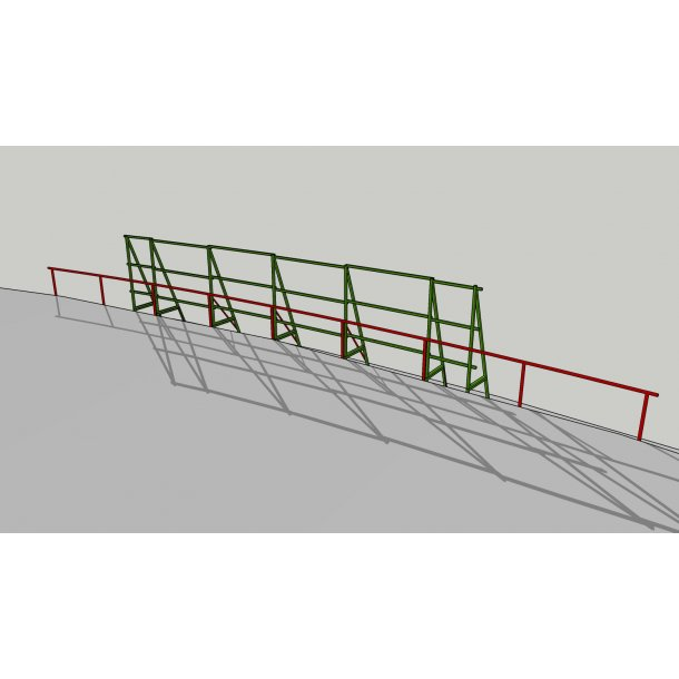 SUPPORTING STEEL FRAME 5 X 2 X 1 M