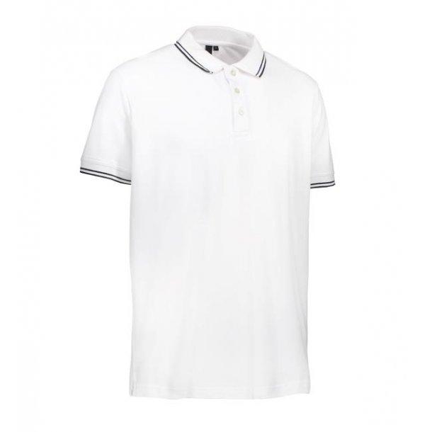 Polo t-shirt - Stretch Contrast polo shirt i Pique til 169 kr.