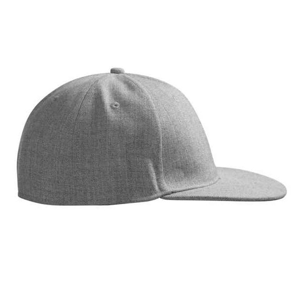 Kasket - Uld-look cap med flad skygge