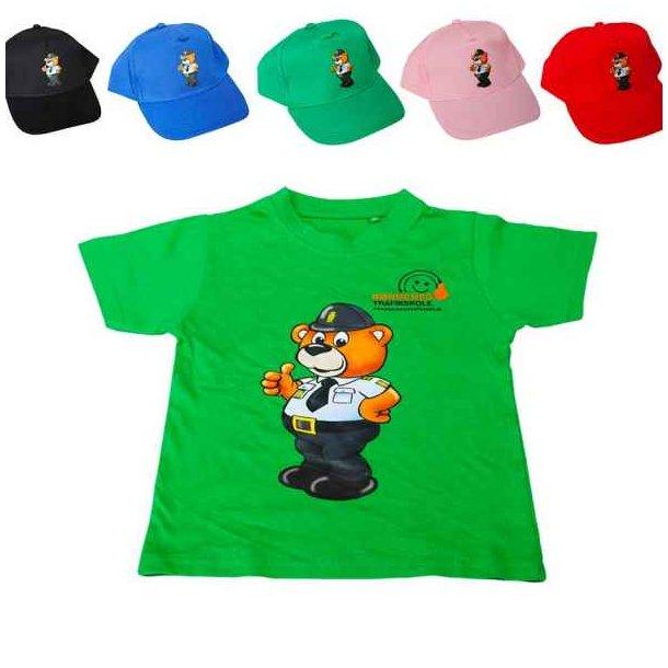 Bamse Betjent, cap + grøn t-shirt
