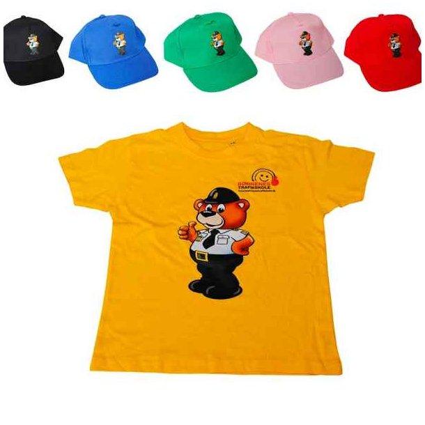 Bamse Betjent, Cap + gul t-shirt.