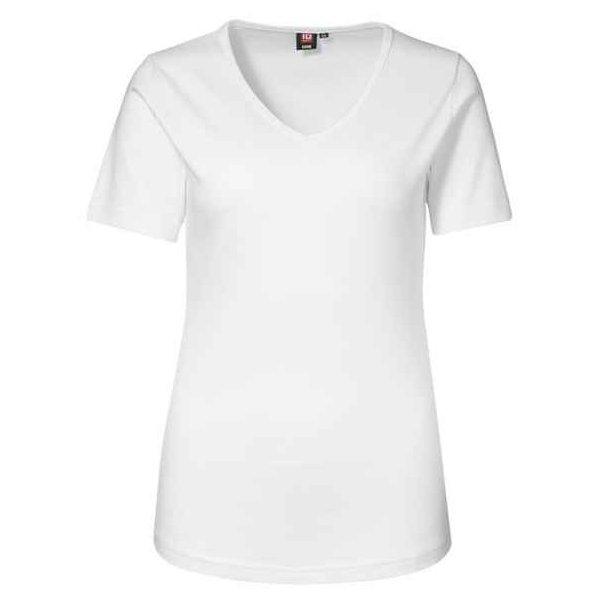 T-shirt - Kortærmet t-shirt med v hals ID0506