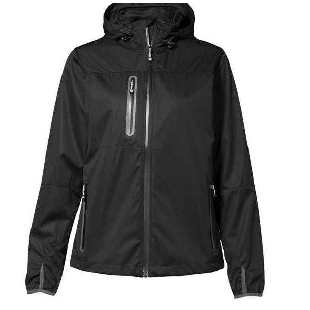 Funktionel SOFT SHELL LETVÆGTS jakke med hætte  567 kr.